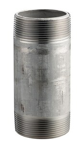 6 x 8 in. MNPT Schedule 40 Threaded Both End 304L Stainless Steel Weld Nipple DS44NUX