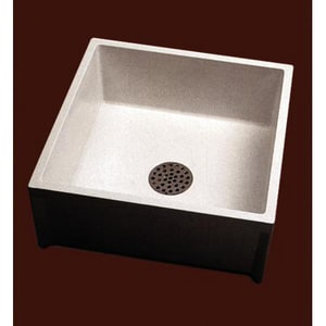Florestone 24 x 24 in. Mop Basin in White FMSR2424