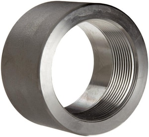 1/2 in. Threaded 3000# 316L Stainless Steel Half Coupling IS6L3THCD