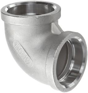 1/2 in. Socket 150# 316L Stainless Steel 90 Degree Elbow IS6CS9D