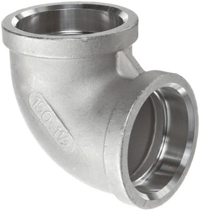 1-1/2 in. Socket 150# 316L Stainless Steel 90 Degree Elbow IS6CS9J