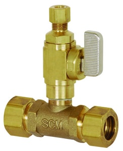 Sioux Chief Add-A-Line™ 5/8 x 1/4 in. Brass OD Compression Valve Tee S601G20CV
