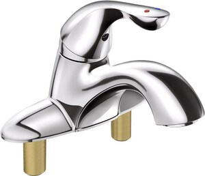 Delta Faucet Classic Series Single Handle Centerset Bathroom Sink Faucet in Polished Chrome D505LF