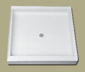 Florestone Saflor® 60 in. Rectangle Shower Base in White F60321WH