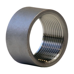1-1/4 in. Threaded 150# 304 Stainless Steel Half Coupling IS4CTHCSP114H