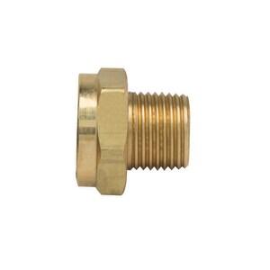 Brass Craft 1/2 x 3/4 in. MIP x FHT Brass Hose Adapter BHU21812X