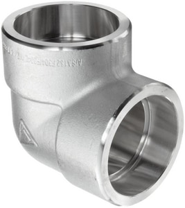1/2 in. Socket 3000# 304L Stainless Steel 90 Degree Elbow IS4L3S9D