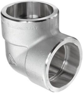 1-1/2 in. Socket 3000# 304L Stainless Steel 90 Degree Elbow IS4L3S9J