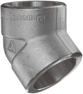1/2 in. Socket 3000# 316L Stainless Steel 45 Degree Elbow IS6L3S4D