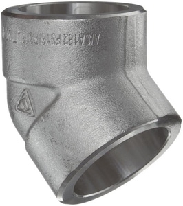 1 in. Socket 3000# 316L Stainless Steel 45 Degree Elbow IS6L3S4G