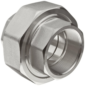 1/2 in. Threaded 3000# 304L Stainless Steel Union IS4L3TU