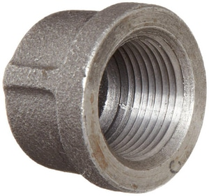 4 in. Threaded 150# Black Malleable Iron Cap IBCAPP at Pollardwater