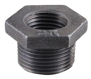 2 x 1/4 in. MNPT x FNPT Black Malleable Iron Bushing IBBKB