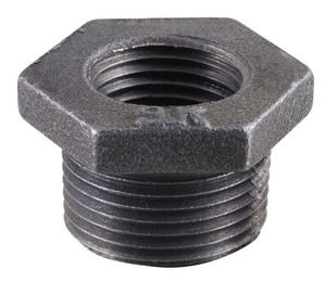 1/2 x 1/4 in. MNPT x FNPT Black Malleable Iron Bushing IBBDB