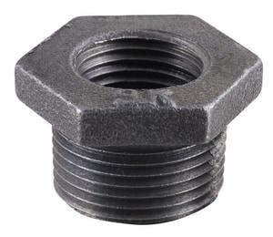 1-1/2 x 3/4 in. MNPT x FNPT Black Malleable Iron Bushing IBBJF