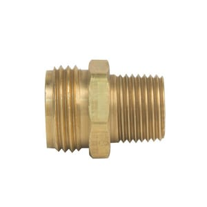 Brass Craft 1/2 x 3/4 in. MIP x MHT Garden Hose Brass Adapter BHU22812X