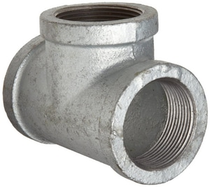 Threaded 150# Galvanized Malleable Iron Reducing Tee IGTR