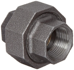 150# Ground Joint Iron and Brass Black Malleable Union IB150U