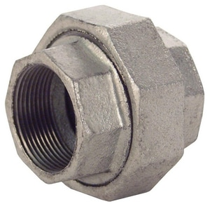 1 in. 150# Ground Joint Iron and Brass Galvanized Malleable Union IG150U