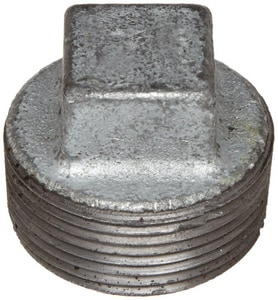 1-1/4 in. Threaded 125# Galvanized Malleable Iron Cored Plug IGCPH at Pollardwater