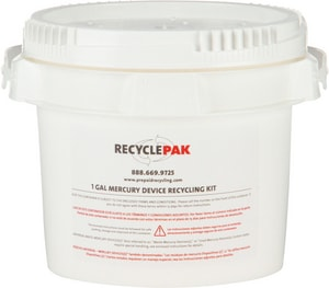 Veolia ES RecyclePak® 13 lb. Mercury Devices Recycling Pail VSUPPLY066