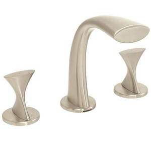 Speakman Widespread Lavatory Faucet with Double Knob Handle in Brushed Nickel SSIF022BN