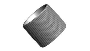 3/8 in. Close NPT Extra Heavy Galvanized Steel Nipple GXSNCL
