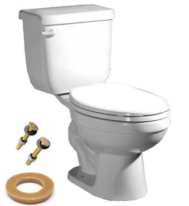 PROFLO® 1.6 gpf Round Toilet in White with Left-Hand Trip Lever PFCT100WH