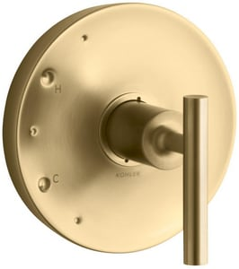 Kohler Purist® Single Lever Handle Valve Trim Only in Vibrant Moderne Brushed Gold KT14423-4-BGD