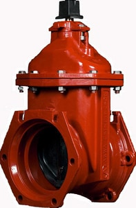 American Flow Control 2500 Series 4 in. Flanged x Tyton Joint Ductile Iron Open Left Resilient Wedge Gate Valve AFC25FTLAOL