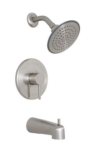 Proflo Orrs Single Handle Tub Shower Faucet Trim Includes Single Function Showerhead And Slip Fit Spout With Diverter In Brushed Nickel Pf8830bn Ferguson
