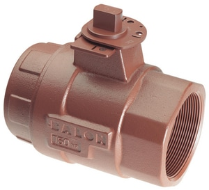 Balon Corporation Series S 3 in. Ductile Iron Reduced Port FNPT 750# Ball Valve BRS32SE