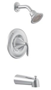 Moen Eva™ Single Handle Single Function Bathtub & Shower Faucet in Polished Chrome (Trim Only) MT62133EP