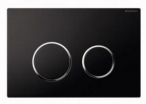 Geberit Sigma20 Dual Flush Push-Button Actuator in Black G115778KM1