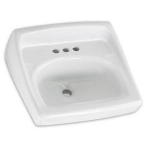 American Standard Lucerne™ Wall Mount Bathroom Sink in White A0355912020