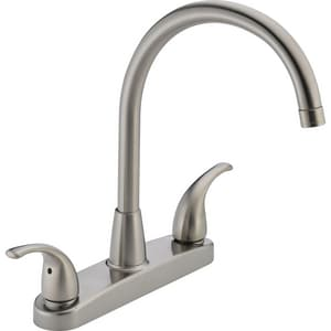 Peerless Faucet 1.8 gpm 3-Hole Double Lever Handle Kitchen Faucet PP299568LF