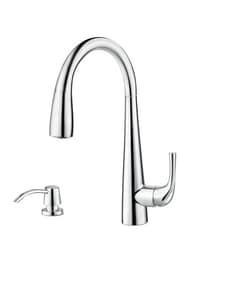 Pfister Alea™ 1.8 gpm 2-Hole Pull-Down Kitchen Faucet with Single Lever Handle in Polished Chrome PGT529ALC