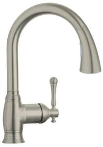 GROHE® Bridgeford™ Single Handle Kitchen Faucet in StarLight Polished Chrome G33870001