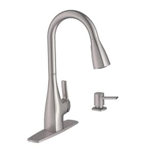 Moen Kiran™ Single Handle Pull Down Kitchen Faucet in Spot Resist™ Stainless M87599SRS