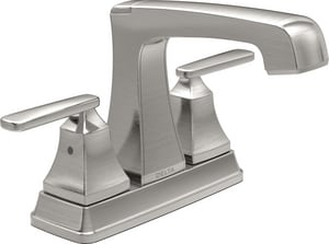 Delta Faucet Ashlyn™ Two Handle Centerset Bathroom Sink Faucet in Polished Chrome D2564MPUDST