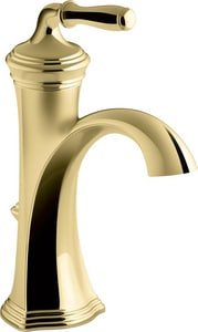 KOHLER Devonshire® Single Handle Centerset Bathroom Sink Faucet in Vibrant Polished Brass K193-4-PB