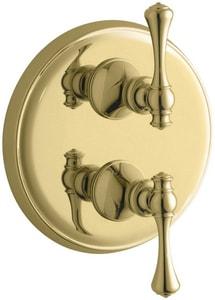 Kohler Revival® Single Lever Handle Traditional Stack Valve Trim in Vibrant Polished Brass KT16176-4A-PB