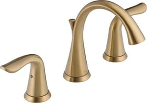 Delta Faucet Lahara Two Handle Widespread Bathroom Sink Faucet in Champagne Bronze D3538CZMPUDST