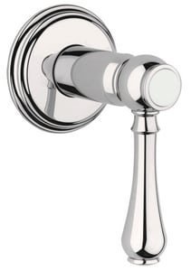 GROHE® Geneva™ Single Handle Bathtub & Shower Faucet in Sterling Infinity Trim Only G19837BE0