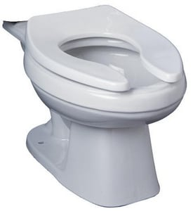 PROFLO® Gilpin 1 gpf Pressure Assist Round Front Floor Mount Toilet Bowl in White PF1600PAWH