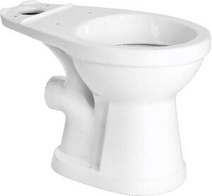 SFA Saniflo USA Saniplus Round Toilet Bowl in White S003R
