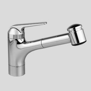 KWC Faucets Domo Single Handle Pull Out Kitchen Faucet in Splendure™ Stainless Steel K10061033127