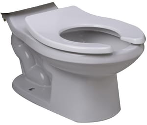PROFLO® Round Front Floor Mount Toilet Bowl in White PF1704BBHEWH