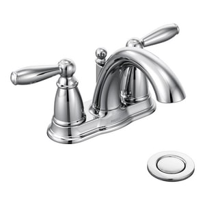 Moen Brantford™ Two Handle Centerset Bathroom Sink Faucet in Polished Chrome M66610