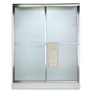 American Standard Prestige® 71-1/2 x 24-1/4 x 48 in. Framed Shower Door with Clear Glass in Silver AAM00770400213